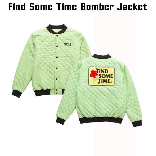 Golf Find Some Time Bomber Jacket