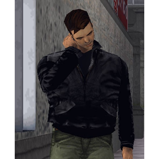 Grand Theft Auto Claude Bomber Leather Jacket