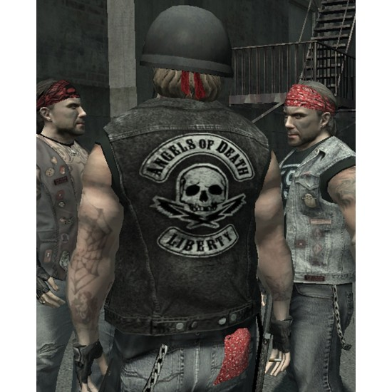 GTA Angels of Death Liberty Black Leather Vest