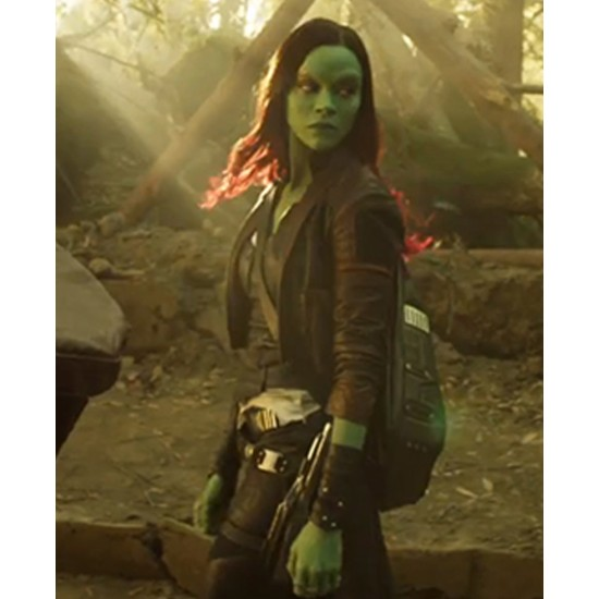 Guardians of The Galaxy Vol. 2 Gamora Leather Jacket