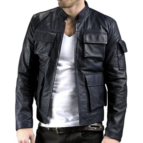 The Empire Strikes Back Han Solo Black Leather Jacket