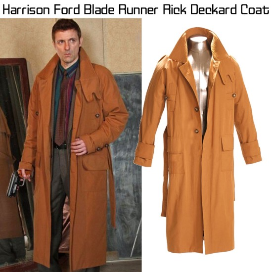 Blade Runner Rick Deckard Trench Coat