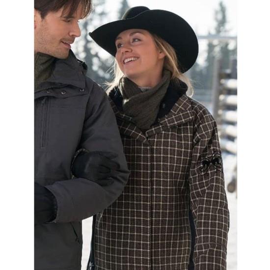 Amber Fleming Heartland Plaid Checkered Jacket