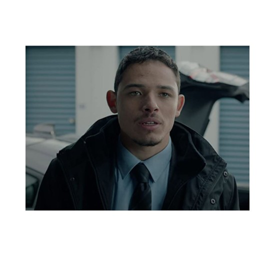 Anthony Ramos Honest Thief Black Coat