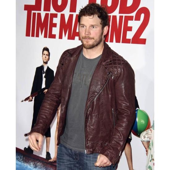 Chris Pratt Hot Tub Time Machine 2 Premiere Leather Jacket