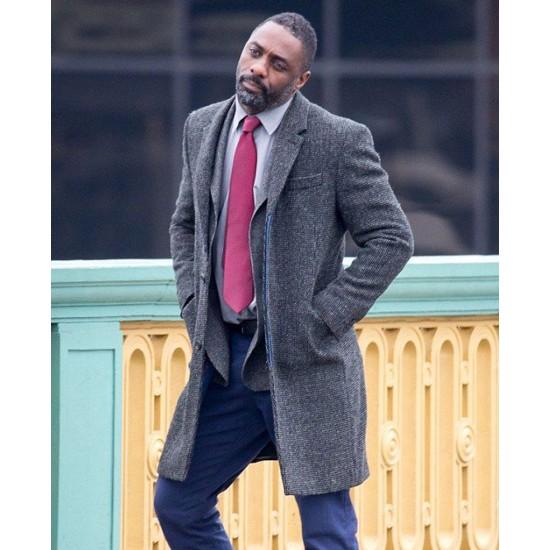 Idris Elba Luther Trench Coat