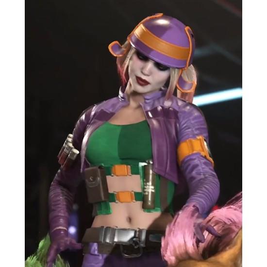 Harley Quinn Injustice 2 Purple Jacket with Vest