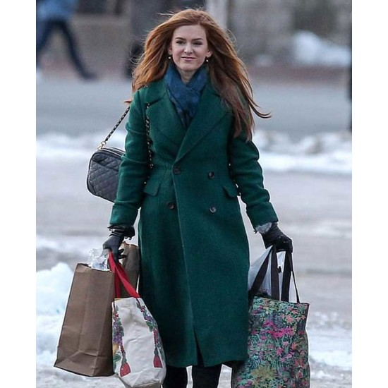 Godmothered Isla Fisher Double Breasted Coat