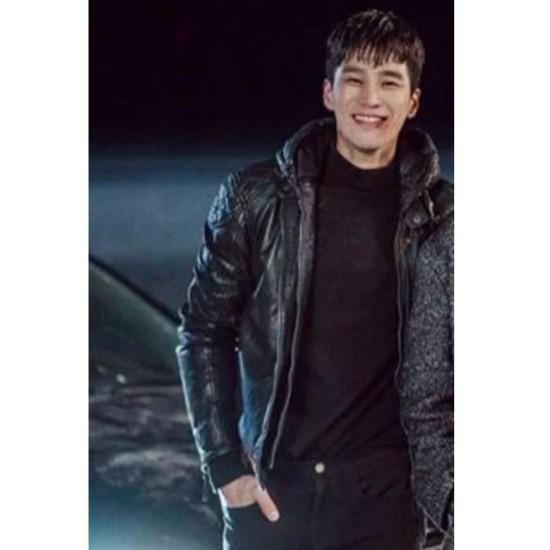 Ahn Bo Hyun Itaewon Class Leather Jacket with Hood