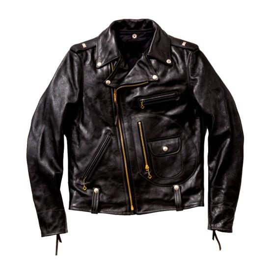 Biker J-24 Cow-Hide Leather Jacket