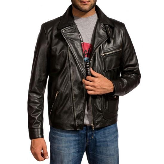 James Franco Black Leather Motorcycle Jacket
