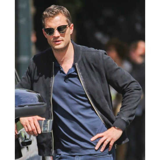 Fifty Shades Freed Jamie Dornan Bomber Suede Jacket