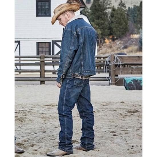 Jefferson White Yellowstone Blue Denim Jacket