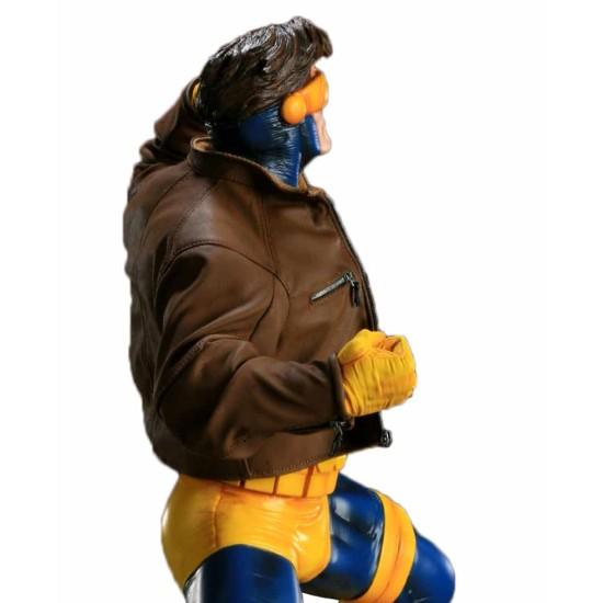 Cyclops Jim Lee Brown Leather Jacket