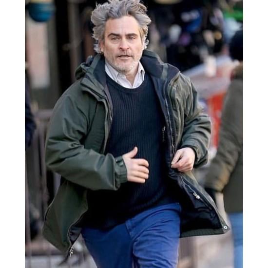 C'mon C'mon Joaquin Phoenix Green Hoodie