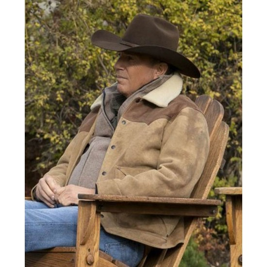 Yellowstone Season 03 Kevin Costner Suede Leather Jacket