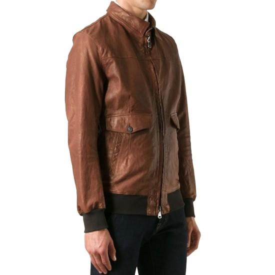American Horror Story John Lowe Brown Leather Jacket