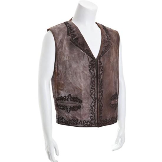 Big Jake Jacob Mccandles Brown Leather Vest
