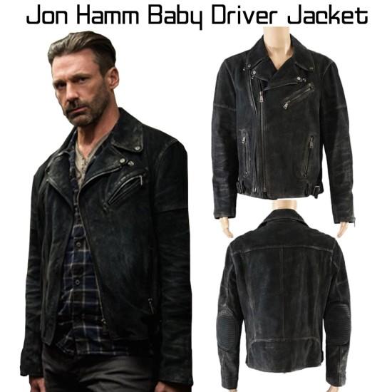 Buddy Baby Driver Jon Hamm Leather Jacket