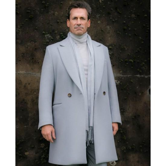 Jon Hamm Good Omens Grey Coat
