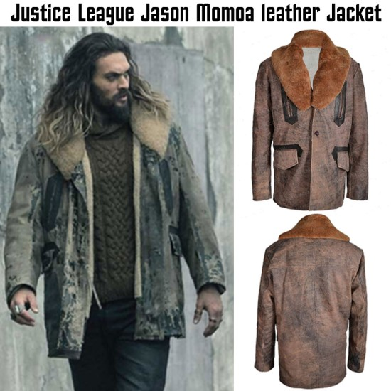 Justice League Arthur Curry Leather Jacket