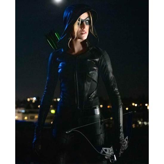 Arrow Season 08 Katherine Mcnamara Hooded Jacket