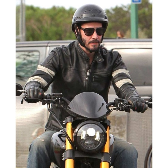 Keanu Reeves John Wick Motorcycle Leather Jacket