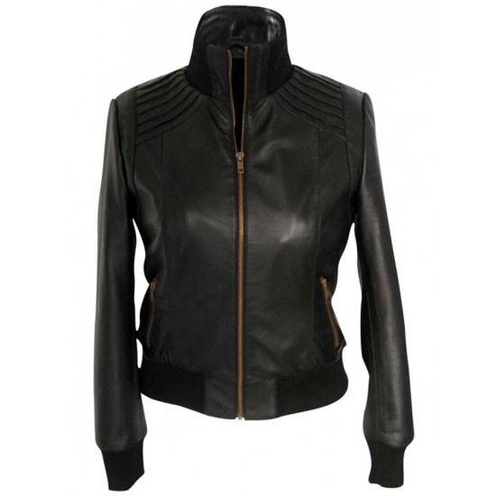 Bette Sans Souci The Flash Kelly Frye Leather Jacket