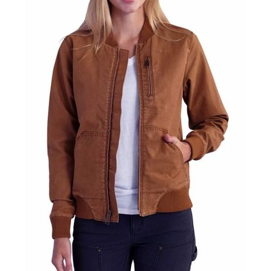 Big Sky Kylie Bunbury Brown Cotton Jacket