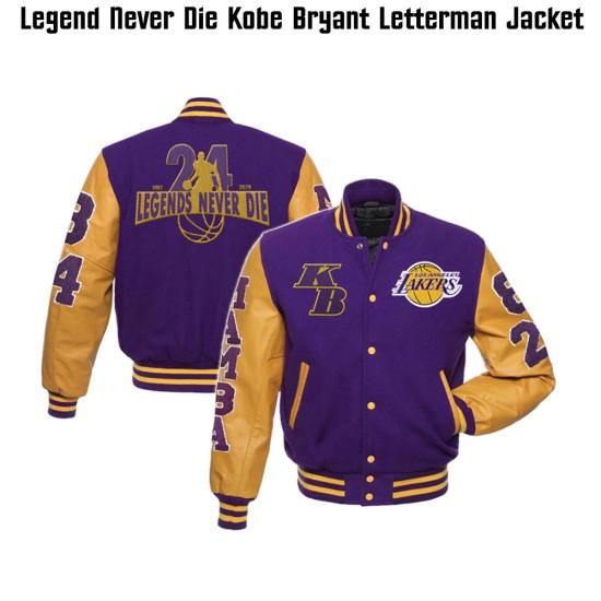 Men's Mamba LA Lakers Legend Never Die Varsity Jacket