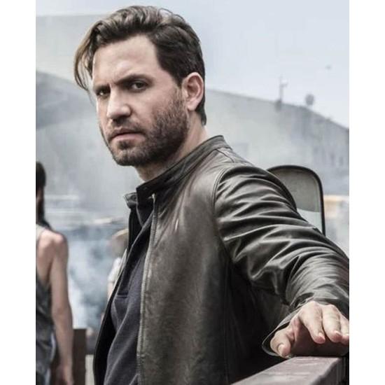 Edgar Ramirez The Last Days of American Crime Leather Jacket