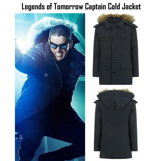 Legends of Tomorrow Captain Cold Jacket with Removable Hoodie