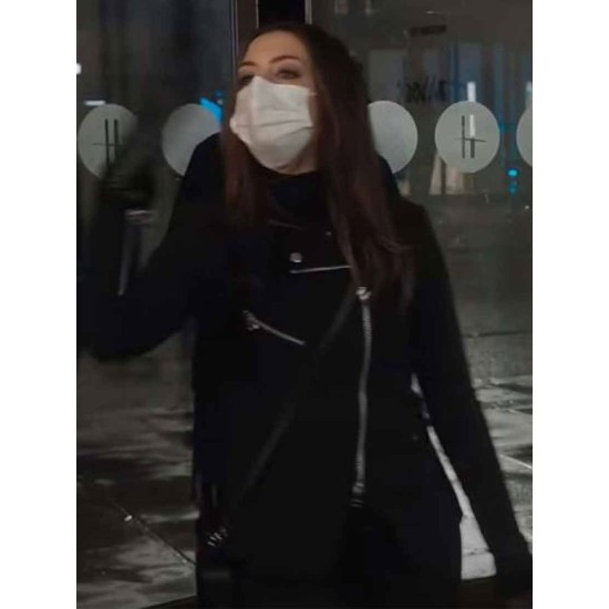 Anne Hathaway Locked Down Wool Jacket