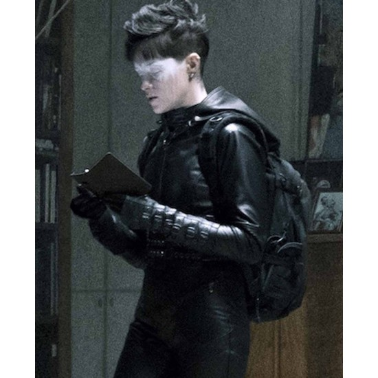 Claire Foy The Girl In The Spider's Web Leather Hoodie