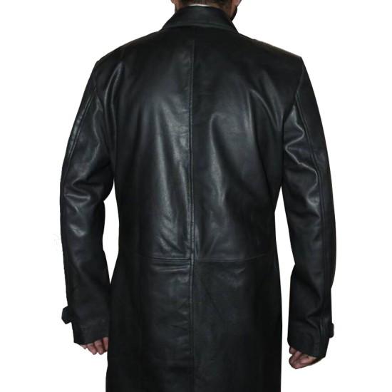 Donald Pierce Logan Boyd Holbrook Leather Coat