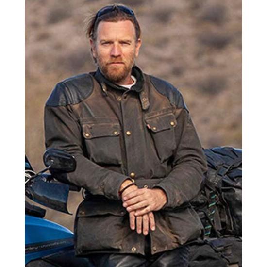 Ewan Mcgregor Long Way Up Blue Jacket
