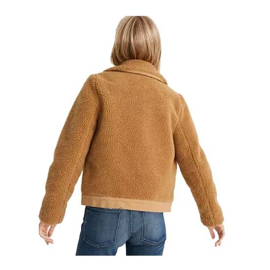 Anna Kendrick Love Life Fur Sherpa Jacket
