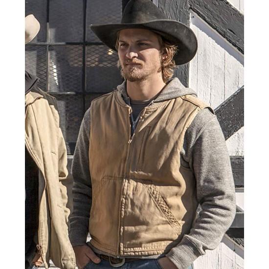 Yellowstone TV Series Kayce Dutton Cotton Brown Vest