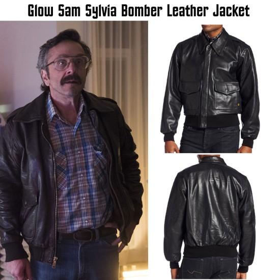 Glow Sam Sylvia Bomber Leather Jacket