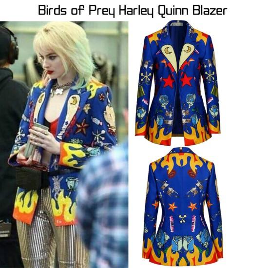 Birds of Prey Margot Robbie Blue Blazer