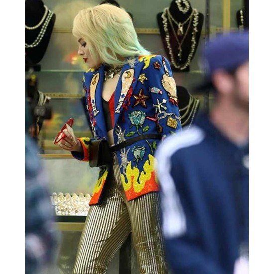 Birds of Prey Margot Robbie Blue Blazer