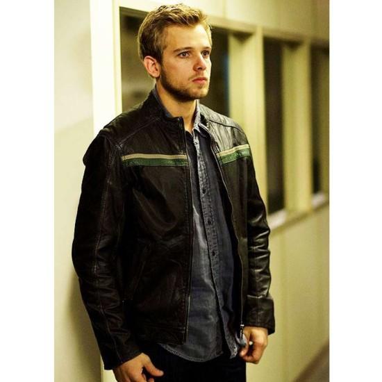 Bates Motel Max Thieriot Black Leather Jacket
