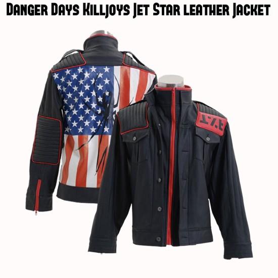 MCR Danger Days Jet Star Leather Jacket
