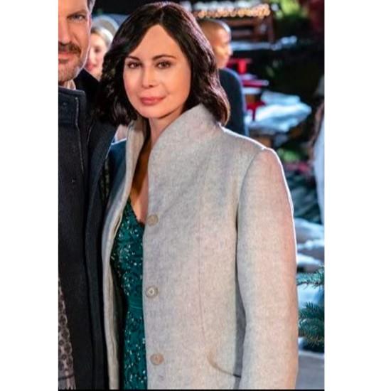 Catherine Bell Meet Me at Christmas Grey Coat