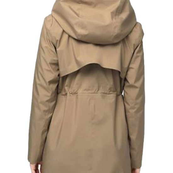 Alexandra Breckenridge Virgin River Brown Coat with Hood