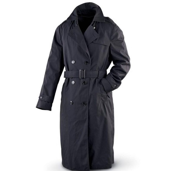 Men's Double Breasted Army Black Coat