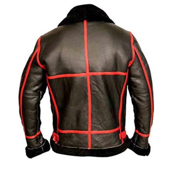 Men's B3 Pilot WW2 Black Leather Jacket