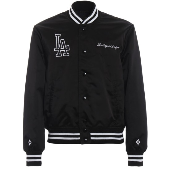 Men's Los Angeles Dodgers Black Satin Jacket