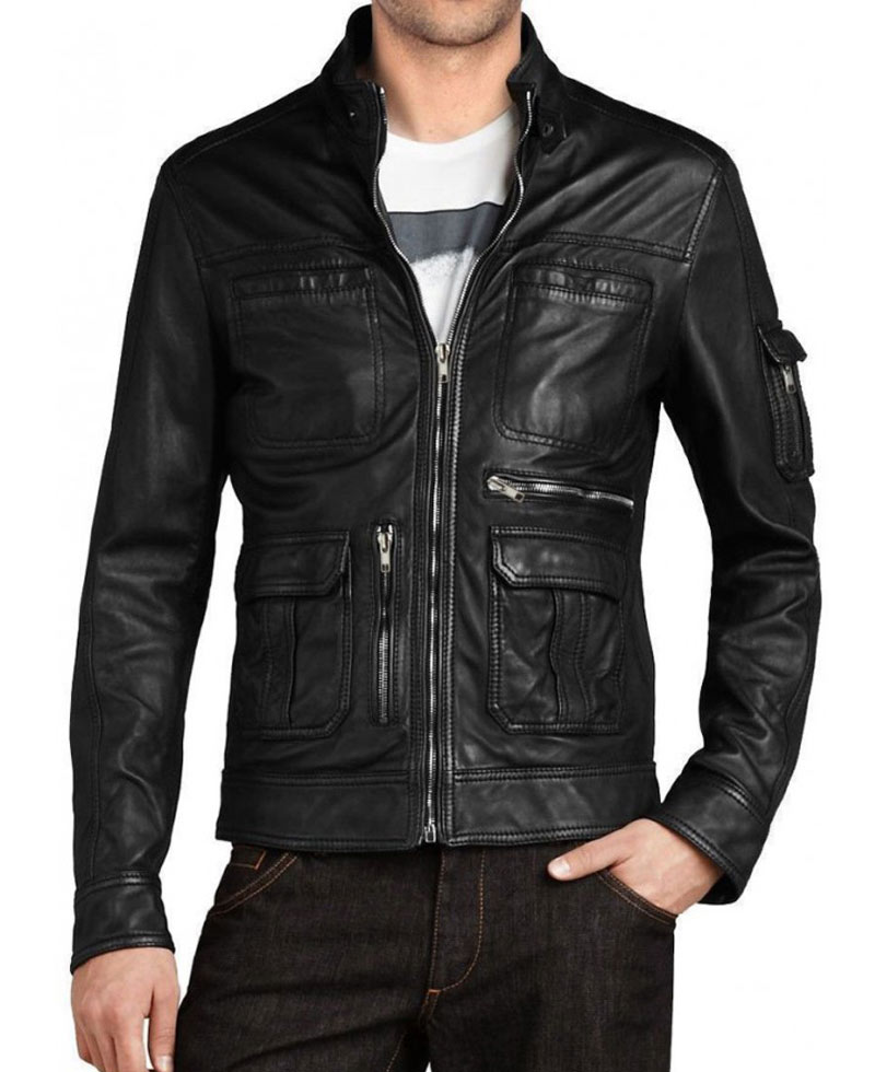 Men S Black Slim Fit New Style Jacket Films Jackets
