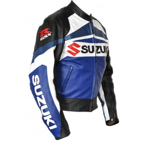 Men's Biker GSXR Suzuki Leather Jacket